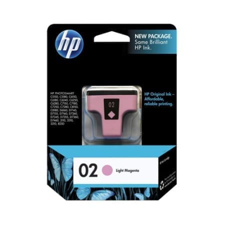 HP 02 Ink Cartridges Light Magenta (C8775WA) Genuine