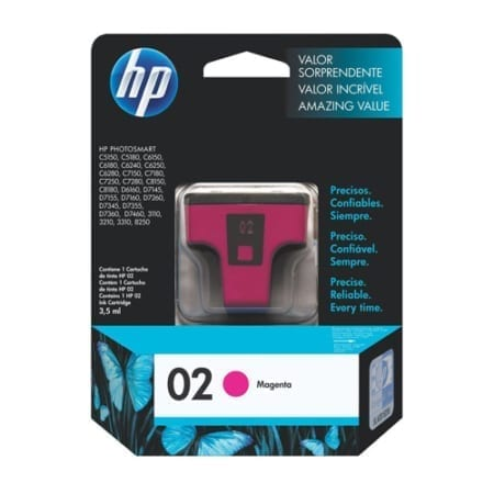 HP 02 Ink Cartridges Magenta (C8772WA) Genuine