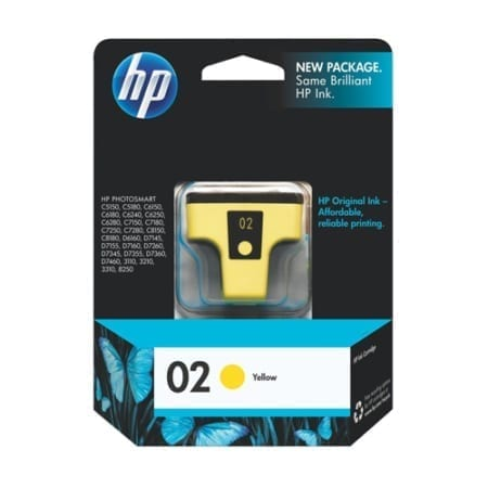 HP 02 Ink Cartridges Yellow (C8773WA) Genuine