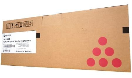 kyocera laser toner cartridges magenta tk-154m genuine