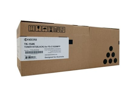 kyocera laser toner cartridges black tk-154k genuine