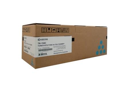 kyocera laser toner cartridges cyan tk-154c genuine