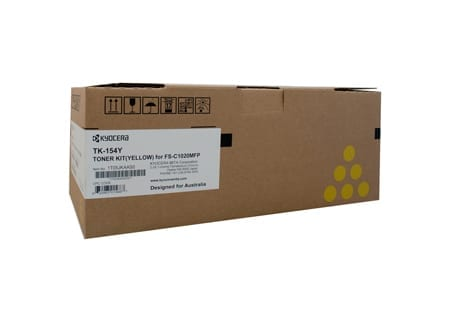 kyocera laser toner cartridges yellow tk-154y genuine