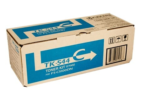 kyocera laser toner cartridges cyan tk-544c genuine