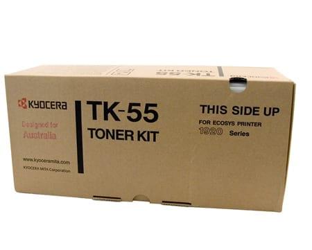 kyocera laser toner cartridges black tk-55 genuine