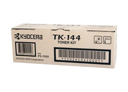kyocera laser toner cartridges black tk-144 genuine