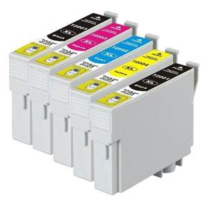 Epson value pack high yield ink cartridges 2/black cyan magenta yellow set 200XL Compatible