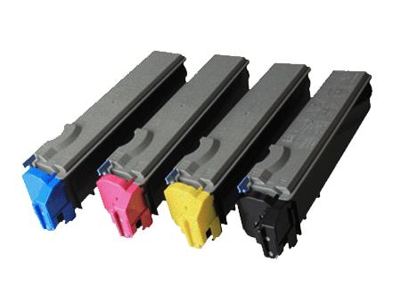 kyocera value pack laser toner cartridges black cyan magenta yellow set (tk-520k-tk-520y) compatible