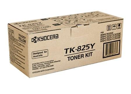 kyocera toner cartridges yellow tk-825y genuine