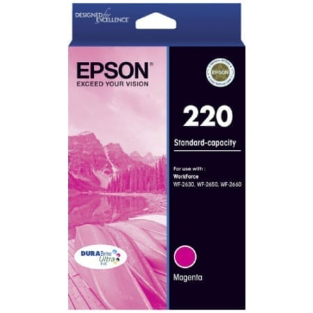 Epson ink cartridges magenta 220 Genuine