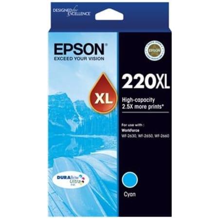 Epson high yield ink cartridges cyan 220XL Genuine