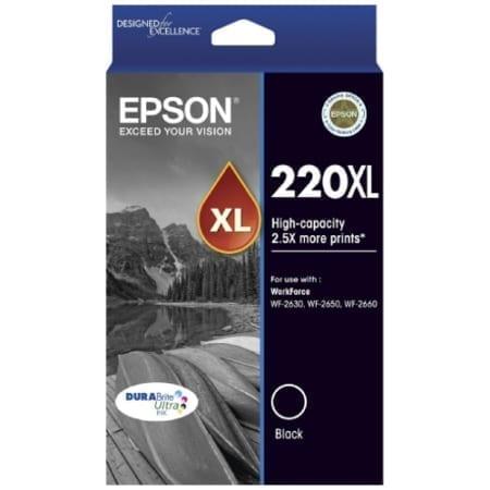 Epson high yield ink cartridges black 220XL Genuine