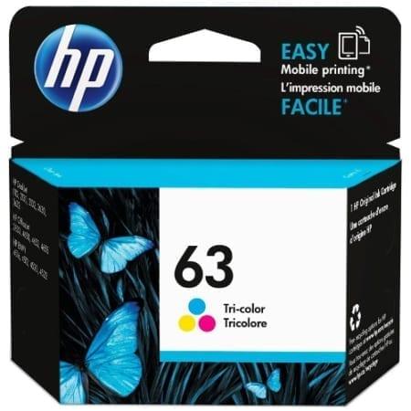 HP 63 Ink Cartridges Colour (F6U61AA) Genuine