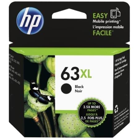HP 63XL black High Yield Ink Cartridges (F6U64AA) Genuine