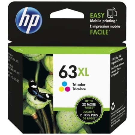 HP 63XL colour High Yield Ink Cartridges (F6U63AA) Genuine