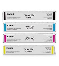 Canon 034 Toner Cartridges 4-Pack Black, Yellow, Magenta, Cyan