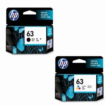 HP 63 black/colour value pack Ink Cartridges set (F6U62AA/F6U61AA) Genuine
