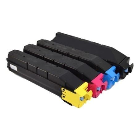 kyocera value pack laser toner cartridges black cyan magenta yellow set (tk5154k-tk-5154y) compatible