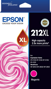 EPSON 212XL MAGENTA GENUINE