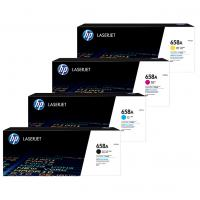 HP 658A Value Pack Laser Toner Cartridges Black Cyan Magenta Yellow Set (W2000A-W2003A) Genuine