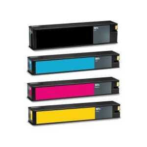 HP 981X Value Pack High Yield Ink Cartridges Black Cyan Magenta Yellow Set (L0R09A-L0R12A) Compatible
