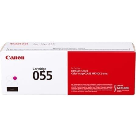 canon laser toner cartridges Magenta CART055 genuine