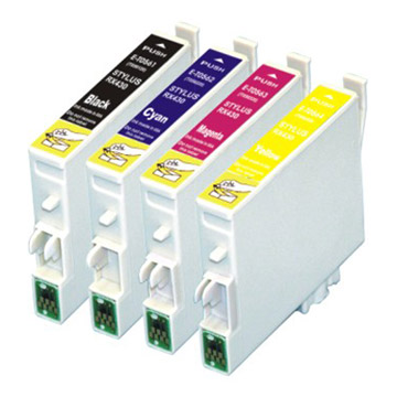 epson value pack ink cartridges black cyan magenta yellow set (t0631-t0634) compatible