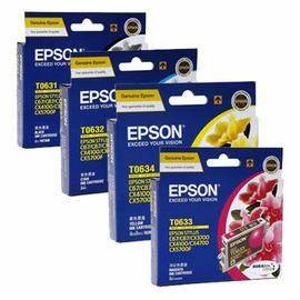 epson value pack ink cartridges black cyan magenta yellow set (t0631-t0634) genuine