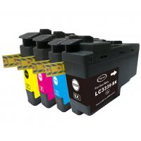 brother value pack high yield ink cartridges black cyan magenta yellow set (lc-3339xl) compatible