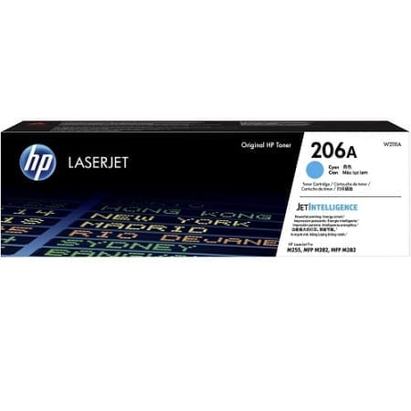 HP W2111A toner cartridges cyan (206A) genuine