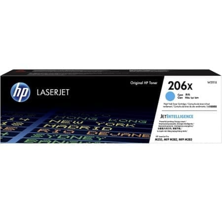 HP W2111X high yield toner cartridges cyan (206X) genuine