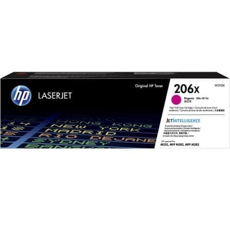 HP W2113X high yield toner cartridges magenta (206X) genuine