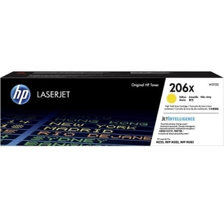 HP W2112X high yield toner cartridges yellow (206X) genuine