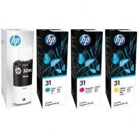 HP 31/HP32XL value pack ink bottles black cyan magenta yellow set (1VV24AA-1VU28AA) Genuine