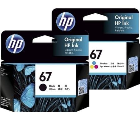 HP 67 black/colour value pack ink cartridges set (3YM56AA/3YM55AA) genuine