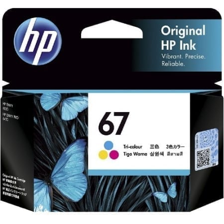 HP 67 colour ink cartridges (3YM55AA) genuine