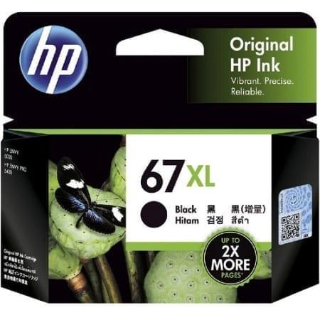HP 67XL Black High Yield Ink Cartridges (3YM57AA) Genuine
