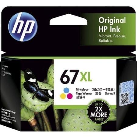 HP 67XL Colour High Yield Ink Cartridges (3YM58AA) Genuine