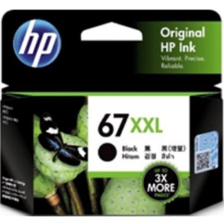 HP 67XXL black extra high yield ink cartridges (3YM59AA) genuine