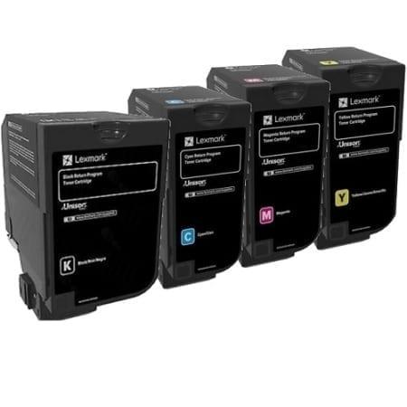 Lexmark Value Pack High Yield Toner Cartridges Black Cyan Magenta Yellow Set (84C6H) Genuine