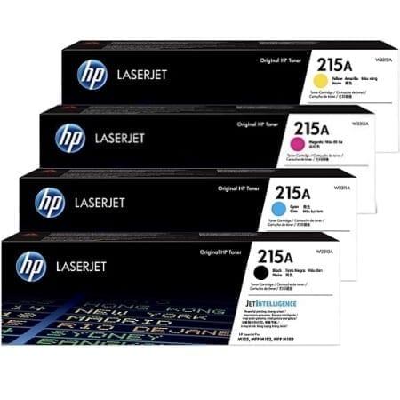 HP 215A Value Pack Toner Cartridges Black Cyan Magenta Yellow Set (W2310A-W2313A) Genuine