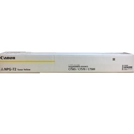 Canon Yellow Toner Cartridges (TG-72Y) Genuine