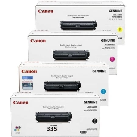 Canon Value Pack Toner Cartridges Black Cyan Magenta Yellow Set (CART-335) Genuine