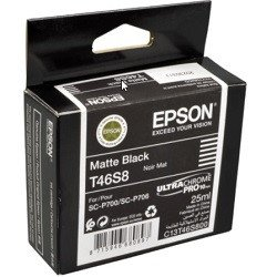 Epson Matte Black Ink Cartridges (T46S) Genuine
