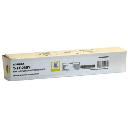 Toshiba Yellow Toner Cartridges (T-FC26SY) Genuine