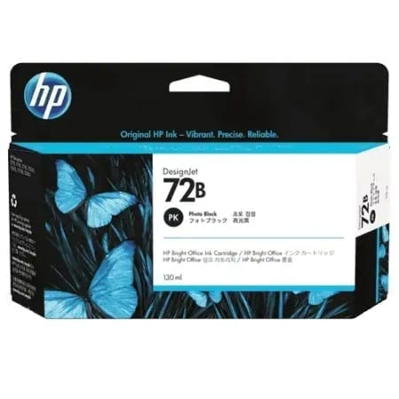 HP 72B Photo Black Ink Cartridges (3WX07A) Genuine